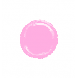 """Pastel Pink 18"""" Round SuperShape Foil Balloon (10 pack)"""