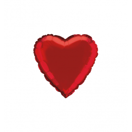 """Metallic Red 18""""/45cm Hearts XL (2 pack)"""