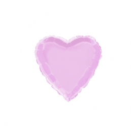 """3 Pack of Pastel Lilac 18""""/45 cm Heart Balloons"""