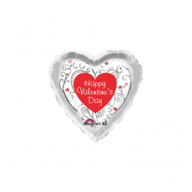 Valentine's Day Whimsical Pattern Balloon (3 pack)