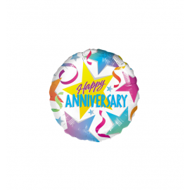 Happy Anniversary Foil Balloons (3 pack)