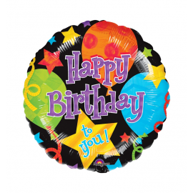 "2 Pack of Jumbo 32"" Birthday Jubilee Balloons"