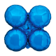 Large Blue Magic Arch Foil Cluster Balloons (10 pack)