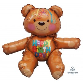 Sitter Bear Birthday Balloon