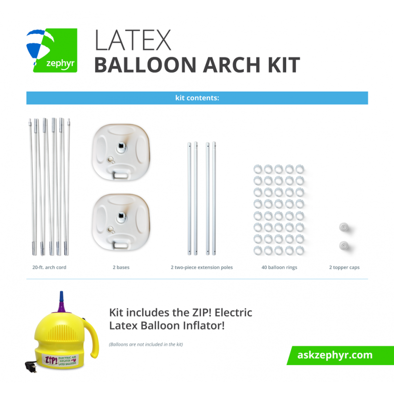 latex balloon arch frame kit hardware only