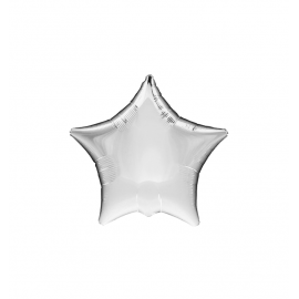 "3 Pack of Metallic Silver 19""/48cm Star Balloons"