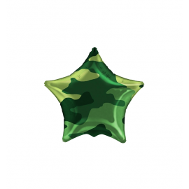 "3 Pack of Camouflage 19""/48 cm Star Balloons"