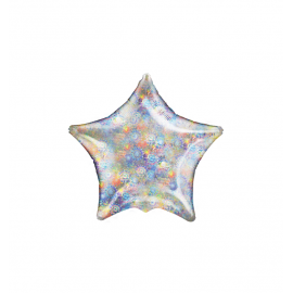 """3 Pack of Holographic Fireworks 19""""/48cm Stars"""