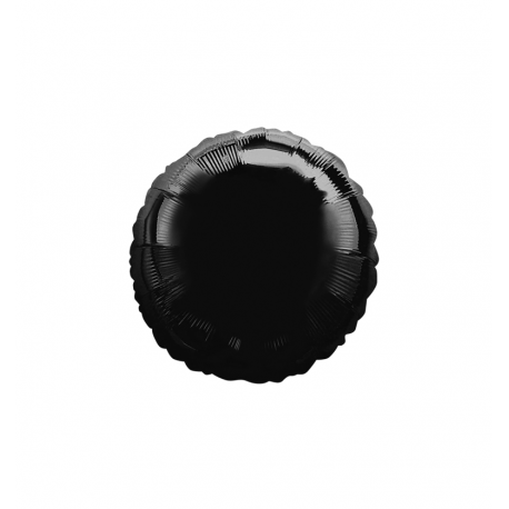 """3 Pack of Black 18"""" Round Foil Balloons"""