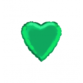 "3 Pack of Metallic Green 18""/45 cm Heart Balloons"
