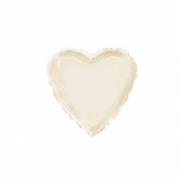 "3 Pack of Metallic Ivory 18""/45 cm Heart Balloons"