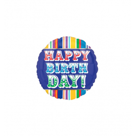 Happy Birthday Primary Balloon (3 pack)