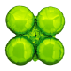 Large Lime Magic Arch Foil Cluster Balloons (10 pack)
