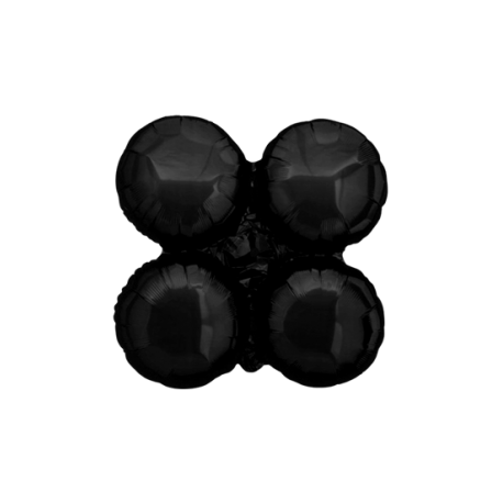 Small Black Magic Arch Foil Cluster Balloons (10 pack)