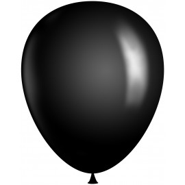 "Huge 30"" Black Latex Balloons (2 pack)"