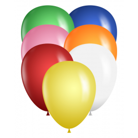 "9"" Latex Balloons - Assorted Color Bag"
