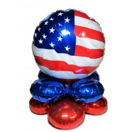 Patriotic Flag Clippin' Easy Centerpiece