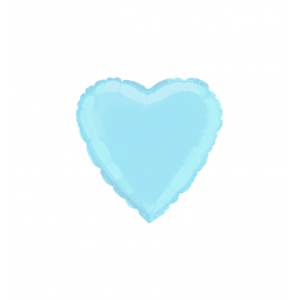 "3 Pack of Metallic Pastel Blue 18""/45 cm Heart Balloons"
