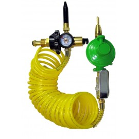 Dual Foil/Latex Balloon Inflator with 12 Ft Extension Hose
