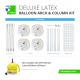 Deluxe Latex Arch & Column Kit (Includes Inflator)