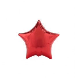 "3 Pack of Metallic Red 19""/48 cm Star Balloons"