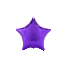 "3 Pack of Metallic Purple 19""/48 cm Star Balloons"
