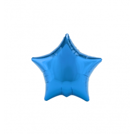"3 Pack of Metallic Blue 19""/48 cm Star Balloons"
