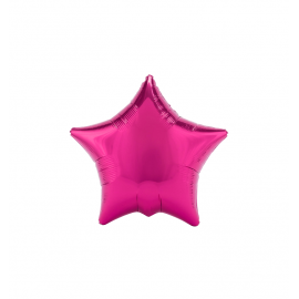 "3 Pack of Metallic Fuchsia 19""/48 cm Star Balloons"