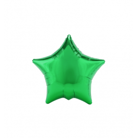 "3 Pack of Metallic Green 19""/48 cm Star Balloons"