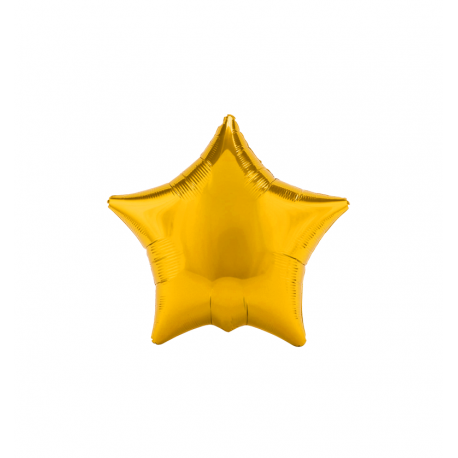 "3 Pack of Metallic Gold 19""/48 cm Star Balloons"