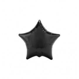 "3 Pack of Metallic Black 19""/48 cm Star Balloons"