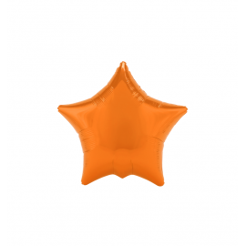"3 Pack of Orange 19""/48 cm Star Balloons"
