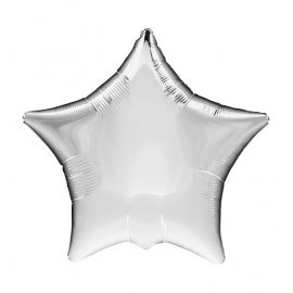 "3 Pack of Jumbo 32"" Silver Star Balloons"